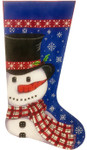 AP2960 Snowman in Scarf Stocking Alice Peterson 11 X 19, 13M