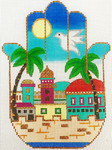 AP2944 Jerusalem City Day View Hamsa Alice Peterson 5.75 x 7.5, 13M