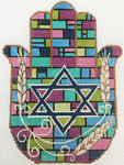AP2942 Stained Glass Hamsa Alice Peterson 5.75 x 7.5, 13M