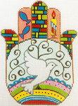 AP2941 Dove Hamsa Alice Peterson 5.75 x 7.5, 13M