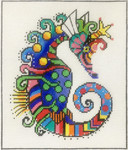 AP2933 Patterned Seahorse Alice Peterson 7.5 x 9, 13m