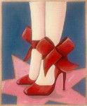 AP2930 Red Shoes Alice Peterson 9 x 10.5 on 13m