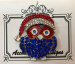 Large Owl (Patriotic) Monster MAGNET  Accoutrement Designs 2018