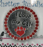 I Love My Cat Chatter Buddy Needle Minder The Meredith Collection ( Formerly Elizabeth Turner Collection)