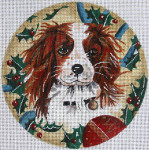 "XO-61v King Charles Spaniel 6"" Round 18 Mesh The Meredith Collection"