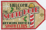 XO-197a Gift Tag Welcome To the North Pole 6 x 4 18 Mesh The Meredith Collection