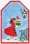 XO-197d Gift Tag Christmas Delivery 6 x 4 18 Mesh The Meredith Collection