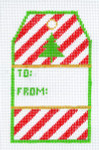 XO-198a Striped Gift Tag To: And From:  3 x 4 3/4 18 Mesh The Meredith Collection