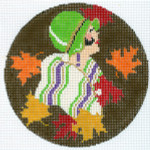 """XO-204b Art Deco Fall Leaves  5"""" 18 Mesh The Meredith Collection"""