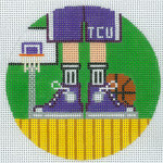 "XO-174u Basketball Feet tcu 5"" Round 13 Mesh The Meredith Collection"