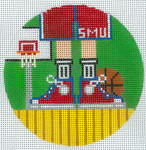 "XO-174u Basketball Feet SMU 5"" Round 13 Mesh The Meredith Collection"