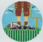 "XO-174t Football Feet Virginia Tech 5"" Round 13 Mesh The Meredith Collection"