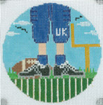 """XO-174t Football Feet University Of Kentucky 5"""" Round 13 Mesh The Meredith Collection"""