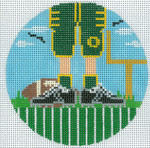 """XO-174t Football Feet University Of Oregon 5"""" Round 13 Mesh The Meredith Collection"""