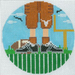 "XO-174t Football Feet Texas Longhorns 5"" Round 13 Mesh The Meredith Collection"