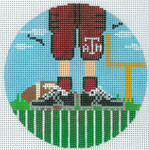 "XO-174t Football Feet Texas A and M 5"" Round 13 Mesh The Meredith Collection"