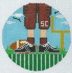 """XO-174t Football Feet South Carolina 5"""" Round 13 Mesh The Meredith Collection"""