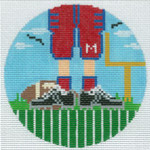 "XO-174t Football Feet Ole Miss 5"" Round 13 Mesh The Meredith Collection"