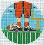 """XO-174t Football Feet Oklahoma State 5"""" Round 13 Mesh The Meredith Collection"""