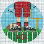 """XO-174t Football Feet North Carolina State 5"""" Round 13 Mesh The Meredith Collection"""