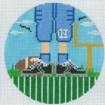 "XO-174t Football Feet north carolina 5"" Round 13 Mesh The Meredith Collection"