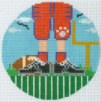 """XO-174t Football Feet Clemson 5"""" Round 13 Mesh The Meredith Collection"""