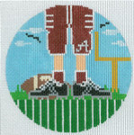 """XO-174t Football Feet Alabama 5"""" Round 13 Mesh The Meredith Collection"""
