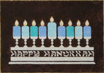 Candles 8 x 12  18 Mesh Once In A Blue Moon By Sandra Gilmore 18-645