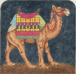 Camel I 17 x 16.25 16 Mesh Once In A Blue Moon By Sandra Gilmore 16-122