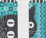 MS082 Little Rollo Blues EGC 18 Mesh 3″ x 6.5″ each Machelle Somerville