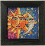 LB141813 Mill Hill Laurel Burch Sun and Moon -  Celestial Collection