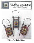 Pieceful Trio 17 x 31 ea - 14ct perforated paper Foxwood Crossings Sleds Sold Separately 15-2350YT