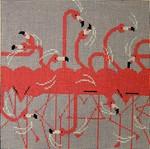 Flamingo Row Eyeglass Charley Harper CH-F043EC 18 Mesh 7 x 7 Treglown Designs