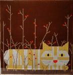 Cat/Autumn Charley Harper CH-C013  18 Mesh 7x7 Treglown Designs