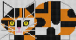 Charley Harper Calico Cat CH-C089 13 Mesh 31⁄2 x 61⁄2 Treglown Designs