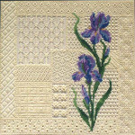 G-403 Iris Lace Stitch Samplr 12 Mesh 14 x 14 Treglown Designs