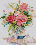 3299 Floral Vase 13 Mesh 11x131⁄2 Treglown Designs