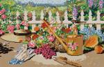 3301 Garden Scene 13 Mesh 17 x 11 Treglown Designs