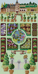 G-781 Formal Garden 13 Mesh 9 x 17 Treglown Designs