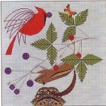 A Good World Charley Harper HC-A189  13 Mesh 14x14 Treglown Designs