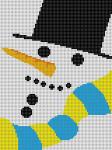 LP-176 Snowman Face13 Mesh 6 x 18 Linda Pietz Treglown Designs