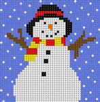 LP-166 Snowman/Primary 13 Mesh 31⁄2 x 31⁄2 Linda Pietz Treglown Designs
