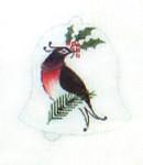 Anne Cram C-02 Christmas Robin 18 Mesh