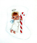 Anne Cram C-04 Candy Cane Angel 18 Mesh