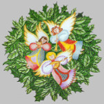 Anne Cram C-70 Angels Wreath 14 Mesh