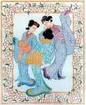 Anne Cram OR-854 Geisha Gossip Square 14 Mesh