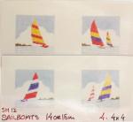 Anne Cram SM-12 Sailboats 18 Mesh