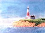 Anne Cram A-801-2 Lighthouse At Montauk 18 Mesh
