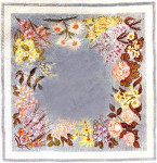 Anne Cram F-5 Floral Card Table Cover 14 Mesh