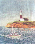 Anne Cram A-801 Lighthouse At Montauk 18 Mesh